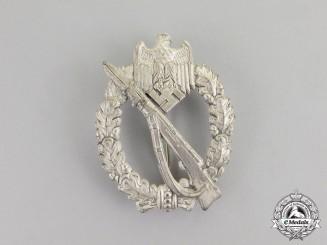 Germany. A Second War Period Silver Grade Infantry Assault Badge by Josef Feix  & Sohn