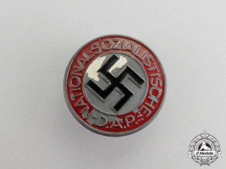 Germany. A NSDAP Party Member's Lapel Badge by Hans Doppler of Wels
