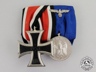 Germany. A Schinkel Iron Cross 1939 & Wehrmacht Long Service Medal Bar Grouping