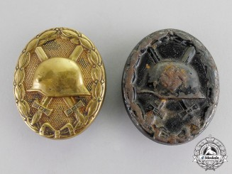 Germany. Two Second War Black Grade Wound Badges