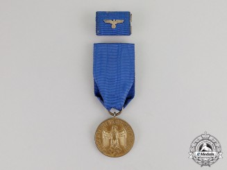 Germany. A Wehrmacht Heer 12 Year Long Service Medal & Ribbon Bar