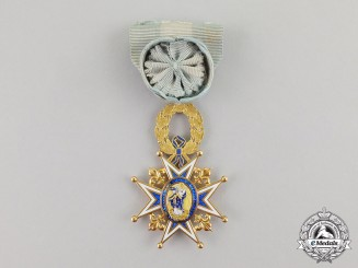 Spain. An Order of Charles III in Gold; Officer's Cross, c.1870