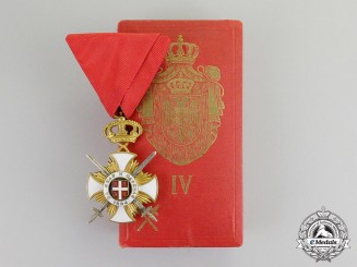 Serbia, Kingdom. An Order of Kara-George with Swords; Fourth Class Knight, by Bertrand