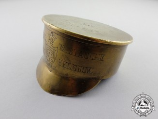 Canada. A Named 256th Battalion Trench Art Service Dress Cap