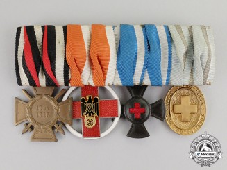 Bavaria. A First and Second War Bavarian Red Cross Medical Staff Medal Bar