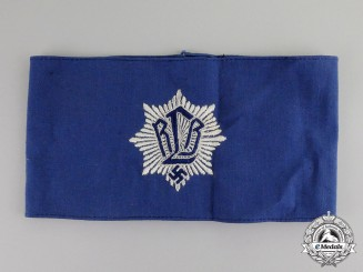 Germany. An RLB (Air Raid Protection League) Member's Armband; 2nd Type