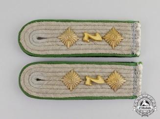 Germany. A Pair of Waffen-SS Division Prinz Eugen Hauptsturmführer's Shoulder Boards