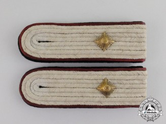 Germany. A Pair of Waffen-SS Obersturmführer's Chemical Warfare Shoulder Boards