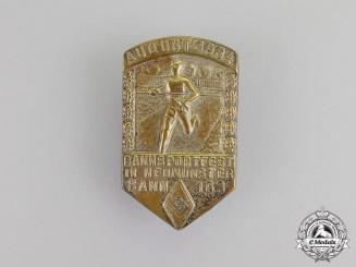 Germany. A 1934 Bann 163 Neumünster Sportfestival Badge