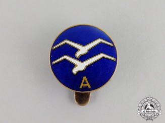 "Germany. A ""Certificate A"" Gliding Proficiency Award Buttonhole Badge"