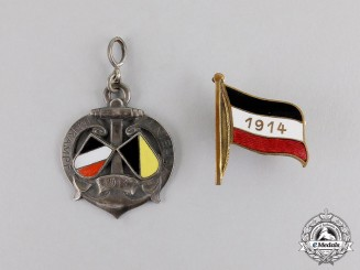 Germany. Two First War Imperial German Patriotic Badges
