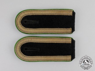 Germany.  A Pair of Waffen-SS Gebirgsjäger Unterscharfuhrer Shoulder Straps