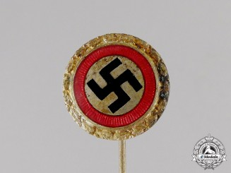 Germany. A Miniature NSDAP Golden Party Badge