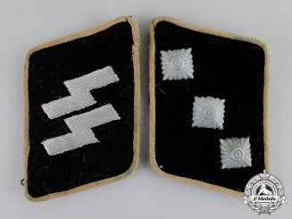 Germany. A Set of Waffen-SS Untersturmführer Collar Tabs: SS-RZM Tagged