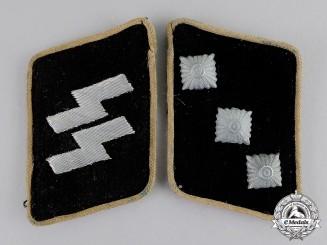 Germany. A Set of Waffen-SS Untersturmführer Collar Tabs: SS-RZM Tagged