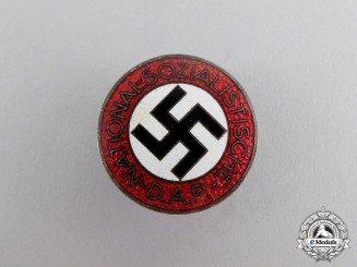 Germany. A NSDAP Party Member's Lapel Badge by Otto Schickle of Pforzheim