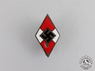 Germany. An HJ Membership Badge by Matthias Öschler & Sohn