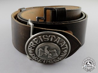 Germany. A 1931 Issue Prussian Protection Police (Schutzpolizei) Officer Buckle & Belt