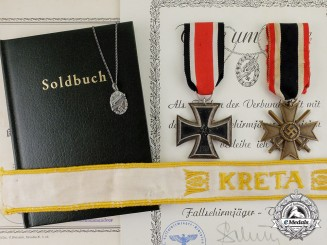 Germany. A Medical NCO Fallschirmjäger Group with Rare Loyalty Necklace for Wives
