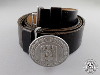 Germany. A DRK (German Red Cross) Officer's Buckle & Belt