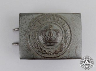 Prussia. An Imperial Prussian EM/NCO's Belt Buckle, c.1915