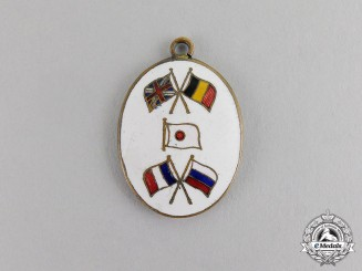 United Kingdom. A British/Belgian/Japanese/French/Russian Alliance Pennant