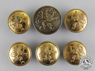 Bavaria. A Set of Six Imperial Bavarian NCO's Uniform Buttons, c.1915