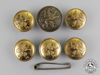 Bavaria. A Set of Six Imperial Bavarian Uniform Buttons, c.1915