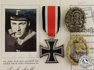"Germany. An Award & Document Grouping of Ordnance NCO Dahl of Aux. Cruiser ""Orion"""