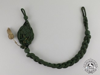 Germany. A Hunting Association Marksmanship Proficiency Lanyard; Grade II