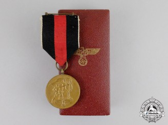 Germany. An Entry into the Sudetenland Commemorative Medal with Case