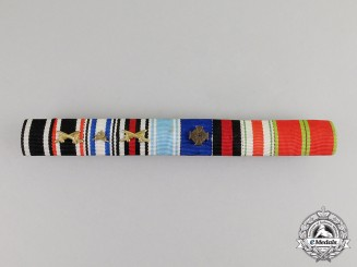 Germany. An Extensive First and Second War Bavarian Medal Ribbon Bar