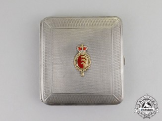 Austria, Imperial. An Cigarette Case Gifted by the Noble House of Kinsky by Schuchs of Vienna