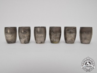 Germany, Imperial. A Set of Victory Shot Glasses to the Famous Jasta 4 Flying Circus