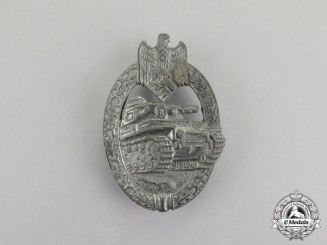 Germany. A Second War Period Silver Grade Tank Badge by Rudolf Karneth of Gablonz a.d. Neisse