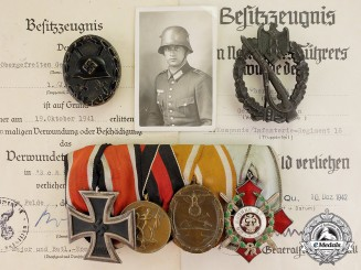 Germany. The Career Decorations & Certificates of Infantry Sen. Lance Corp. Gerhard Iken