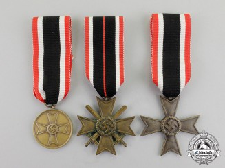 Germany. Three War Merit Medals and Second Class Crosses