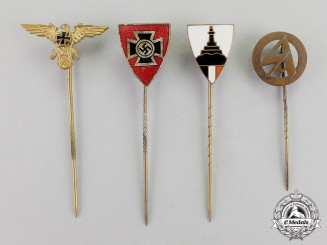 Germany. Four Third Reich Period Stick Pins