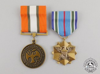 United States. A Pair of Service Medals
