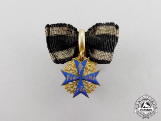 Prussia. A Miniature Pour le Mérite Boutonnière by the German Officer's League, c.1916