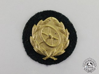 Germany. A Gold Grade Wehrmacht Heer (Army) Driver's Proficiency Badge