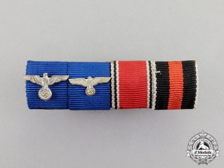 Germany. A Wehrmacht Heer (Army) Long Service Medal Ribbon Bar