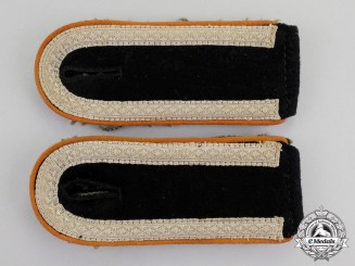 Germany. A Mint Pair of Waffen-SS Panzer Field Police Unterscharführer Rank Shoulder Boards