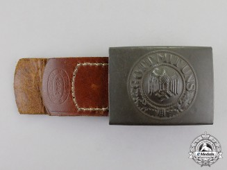 Germany. A 1941 Wehrmacht Heer (Army) EM/NCO's Standard Issue Belt Buckle