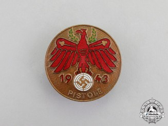 Germany. A 1943 Tirol Pistol Shooting/Marksmanship Competition Badge