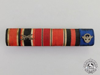 Germany. An Extensive Second War German Medal Ribbon Bar