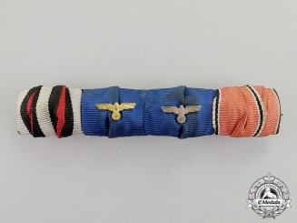 Germany. A First and Second War Long Service Medal Ribbon Bar