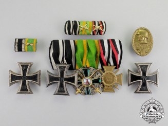 Baden. A First War Order of the Zähringer Lion & Iron Cross 1914 Medal Group