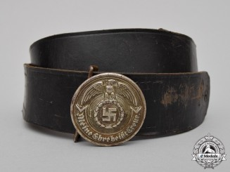 Germany. An Early Issue & Rare SS Officer's Belt & Buckle in Nickel