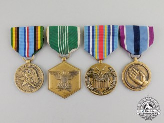 United States. A Lot of Four Medals & Awards